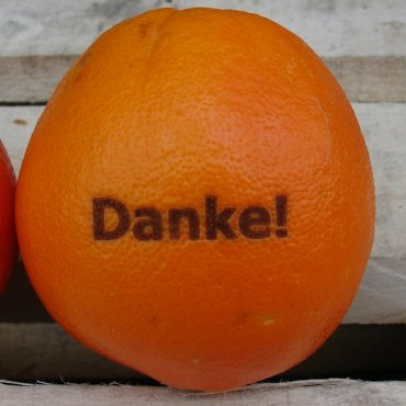 Laser-Orange Danke
