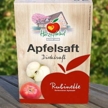 Apfelsaft Rubinette naturtrüb, 5ltr Bag in Box