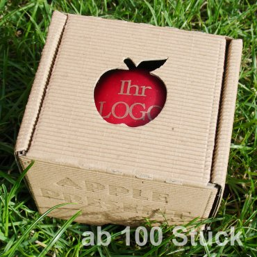 roter Logo-Apfel Laser in 1er Apple Present Box