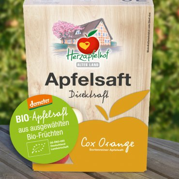 Apfelsaft vom Herzapfelhof 5l Bag in Box Bio-Cox Orange